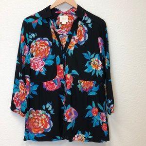 Anthropologie Maeve Woodland Walk blouse